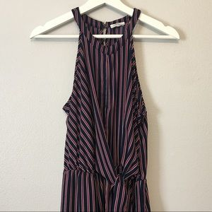 Blue and Red Striped Romper
